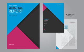 Annual Report Elegant Geometric Flat Design Template