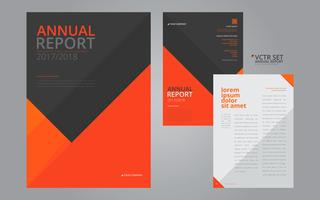 Annual Report Elegant Geometric Flat Design Template