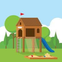 Wooden Playhouse Vector