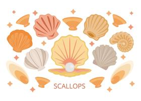 Gratis Scallops Sea Shell Vector