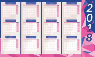 Vector de calendario imprimible