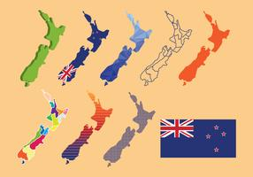 New Zealand Map Vector Pack