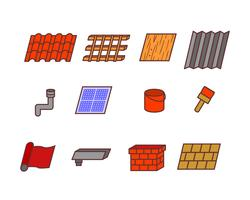 Icono relacionado de Roof Tile vector