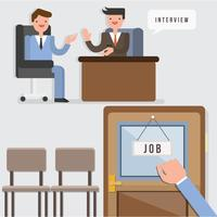 Job Suche Illustration Vektor