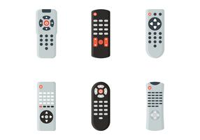 Tv Remote Vector Set