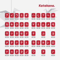 Japanische Buchstaben Katakana