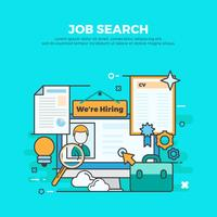 Free Job Search Vector Illustration