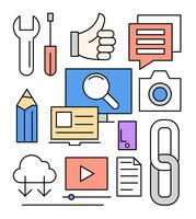 Kostenlose lineare Web Icons