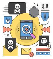 Icônes d'alerte de virus gratuit