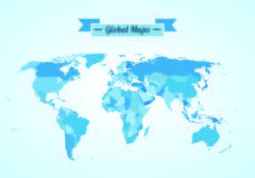 Vector van globale kaarten