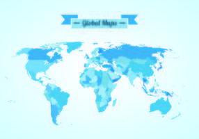 Vector de mapas globales