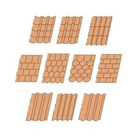 Free Roof Tile Collection Vector