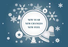 Elementos de fundo gratuitos de ano novo feliz