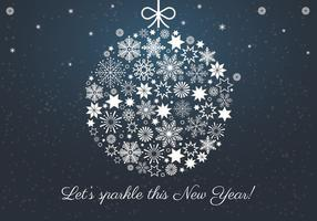 Free Happy New Year Background Elements vector