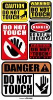 Vector conjunto de signos NO TOCAR