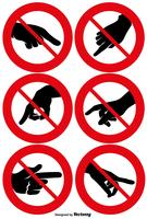 Conjunto de vetores de sinais NÃO TOQUE