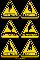 Vector Set Of DO NOT TOUCH Signs