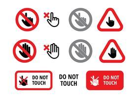 Ne touchez pas signe vecteur libre