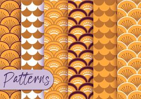 Japanese Pattern Set  vector