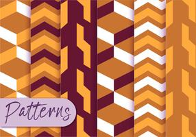Geometric Orange Pattern Set
