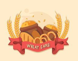 Vector de orejas de trigo gratis