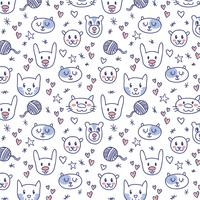 Free Cute Animal Pattern Vectors
