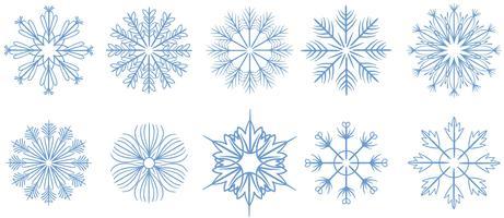 Kostenlose Schneeflocken 2 Vektoren