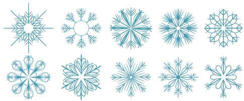 Vectores de copos de nieve gratis
