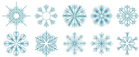 Gratis snöflingor vektorer