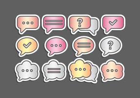 Vector Metalic Speech Bubbles