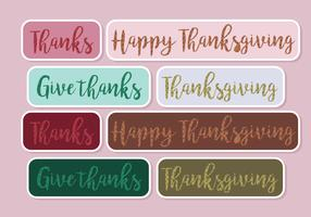 Vector Thanks Giving Stickers