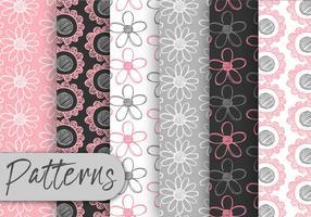 Conjunto de motivos florales en colores pastel