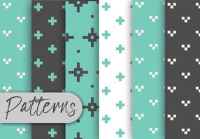 Conjunto de patrones de píxeles azules