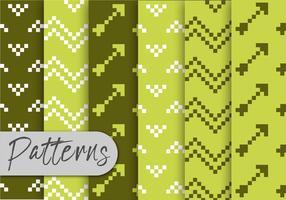 Conjunto de padrões de pixels verdes