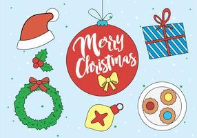 Gratis julvektorelement och ikoner
