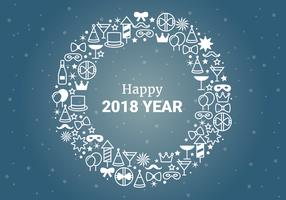 Free Flat Design Vector New Year Greetings