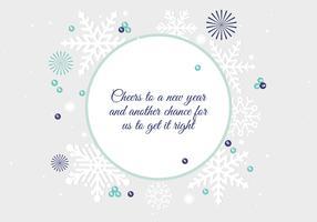 Diseño plano gratuito Vector saludo de año nuevo