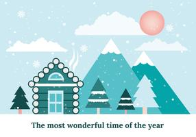 paisagem de inverno de design plano livre