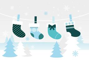 Freie flache Design-Vektor-Winter-Elemente