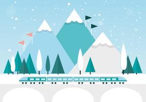 Gratis planlösning Vector Vinterlandskap