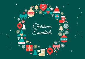 Vector de fondo de elementos de Navidad gratis