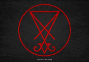 Sigilo do vetor símbolo satanás