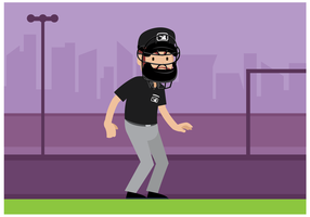 Baseball Umpire Character Vector
