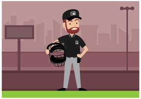 Free Baseball Umpire Character Vector