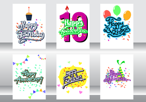 Anniversaire Card Vector