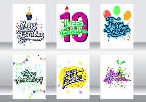 Vecteur de carte anniversaire