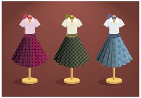 Free Poodle Skirt Vector
