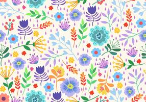 Seamless Pattern Elements Flower Ditsy vector