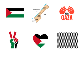 Vecteur de symbole de Gaza