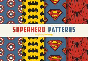 Superhjälte Seamless Vector Patterns